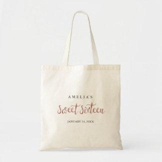 Hübsche Rosen-Gold16. Geburtstag-Taschen-Tasche Tragetasche
