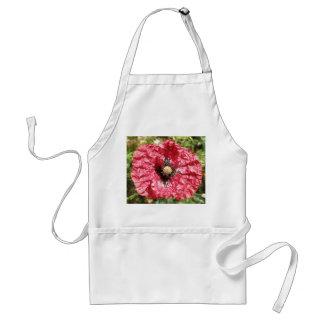 Hübsche rote Mohnblumen-Blumen-MakroSchürze Schürze
