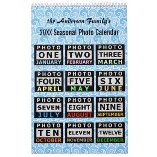Hübsche Saisonkundenspezifische Familien-Fotos Wandkalender