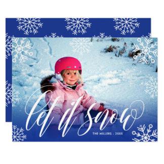 Hübsche Schneeflocken - lassen Sie es schneien - Karte