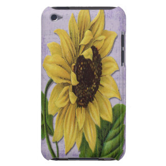Hübsche Sonnenblume auf Blatt-Musik iPod Case-Mate Case
