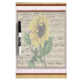 Hübsche Sonnenblume auf Musik Memoboard