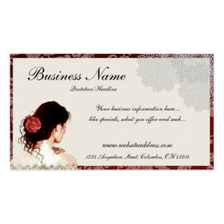 Hübsche Spitze-Frauen-Entwurfs-Geschäfts-Karten Visitenkarten