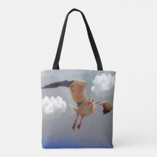 Hübsche Strandseemöwe-Taschentasche Tasche
