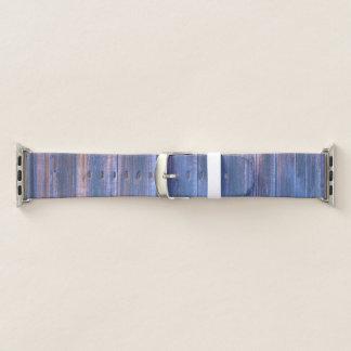 Hübsche vibrierende blaue Scheunen-Brett-Apple-Uhr Apple Watch Armband