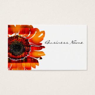 Hübsche vibrierende brennende Sonnenblume Visitenkarte