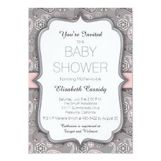 Hübsche Vintage Baby-Duschen-Einladung Paisleys 12,7 X 17,8 Cm Einladungskarte