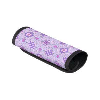 Hübsche violette gelockte gemusterte koffergriffwickel