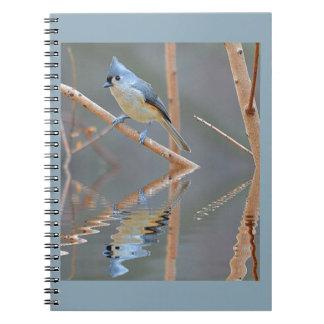 Hübsche Vogel-Reflexionen Spiral Notizblock