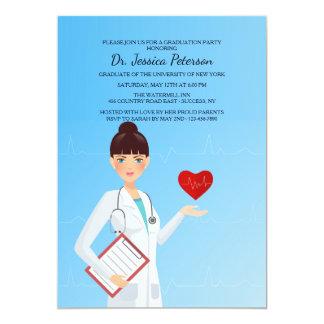 Hübsche weibliche Mediziner-Einladung Karte
