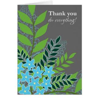 Hübsche Wildblumen-blaue Vergissmeinnichte danken Karte