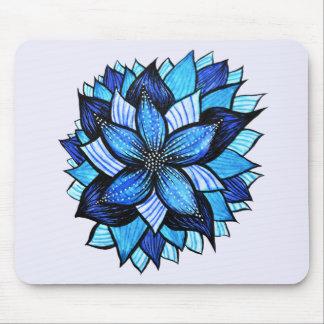 Hübscher abstrakter blauer Mandala mögen das Mousepads