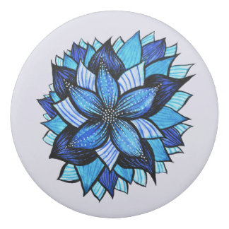 Hübscher abstrakter blauer Mandala mögen das Radiergummis 0