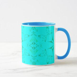 Hübscher Aqua-Türkis-böhmisches Stammes- Muster Tasse