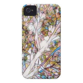 Hübscher Baum des Leben-befleckten Glases Case-Mate iPhone 4 Hülle