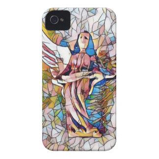 Hübscher beflecktes Glas-Wächter-Engel iPhone 4 Hüllen