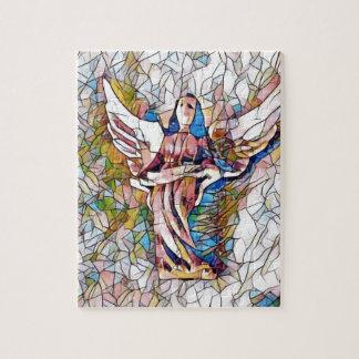Hübscher beflecktes Glas-Wächter-Engel Puzzle