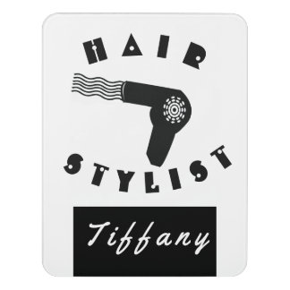 Hübscher beruflicher Haar Dryier Stylist-Salon Türschild