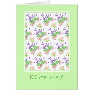 Hübscher Blumen100. Geburtstags-Gruß Karte