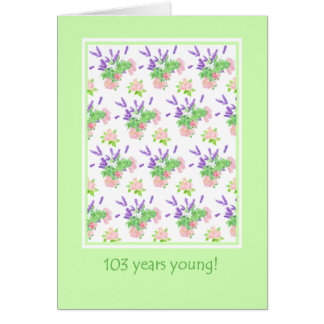 Hübscher Blumen103. Geburtstags-Gruß Karte