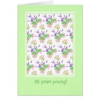 Hübscher Blumen98. Geburtstags-Gruß Karte