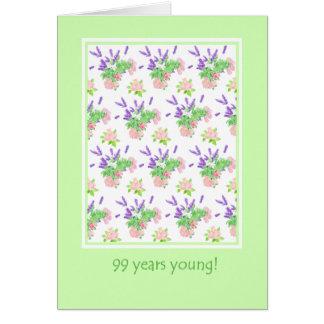 Hübscher Blumen99. Geburtstags-Gruß Karte