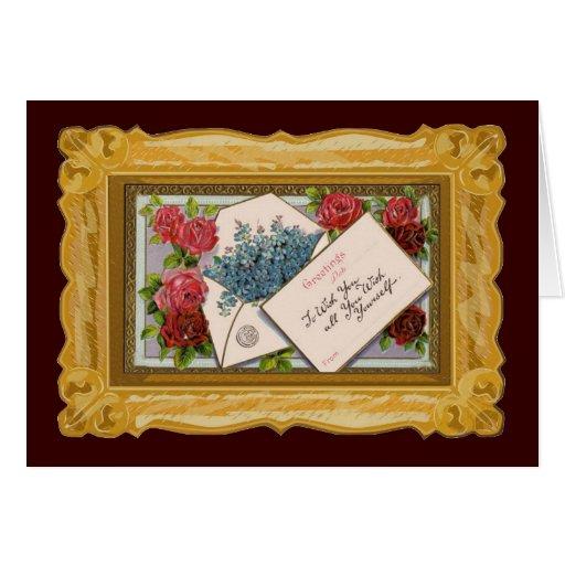 Hübscher Blumengruß Grußkarte