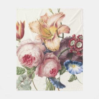 Hübscher Blumenstrauß Fleecedecke