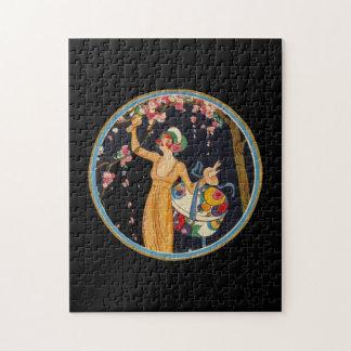 Hübscher Blüten-Baum Kunst-Deko-Art-Damen-Kirsche Puzzle