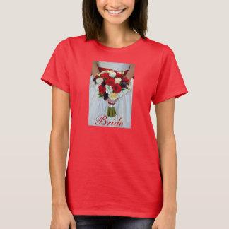 Hübscher Brautblumenstrauß-Entwurfs-T - Shirt