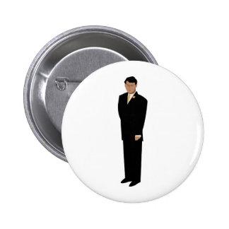Hübscher Bräutigam in der Krawatte Runder Button 5,1 Cm