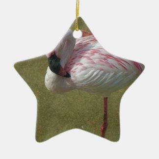 Hübscher Flamingo Keramik Ornament