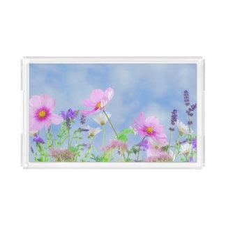 Hübscher Frühlings-wilde Blumen Acryl Tablett