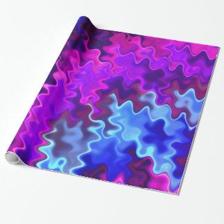 Hübscher gewellter blauer und lila Sturm Geschenkpapier