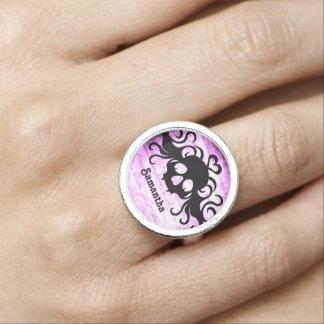 Hübscher girly Schädel Ringe