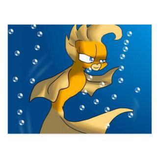 Hübscher Goldfish Postkarte