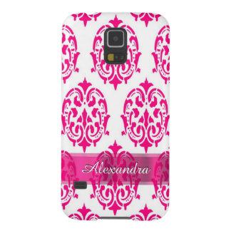 Hübscher heißer Rosa- und weißerpersonalisierter Samsung Galaxy S5 Hüllen