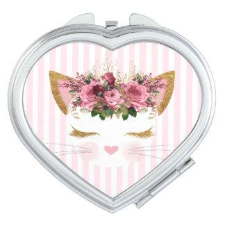 Hübscher Kitty-Vertrags-Spiegel Taschenspiegel