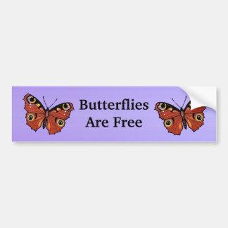 Hübscher klarer Monarch-Schmetterling lila Autoaufkleber