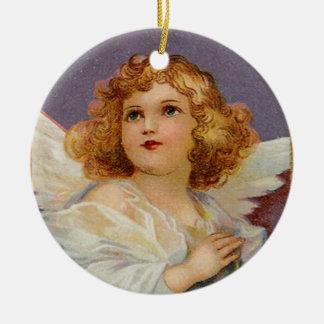 Hübscher kleiner Engel - Verzierung Rundes Keramik Ornament