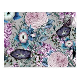 Hübscher Lavendel-botanisches Blumenmuster Postkarte