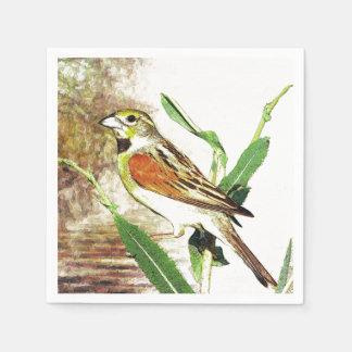 hübscher Liedvogel des Serviette