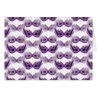 Hübscher lila Maskerade-Ball maskiert Karneval Karte