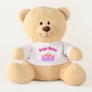 Hübscher Lotos-Blumen-Yoga-Entwurf Teddy