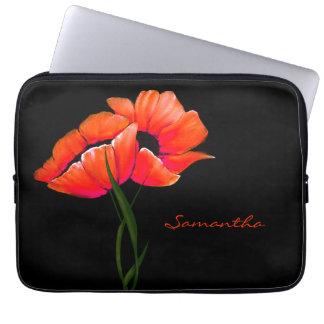 Hübscher Mandarine-Mohnblumen-Laptop-Kasten Computer Sleeve Schutzhüllen