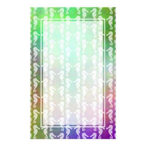 Hübscher MehrfarbenSeepferd-Muster-Entwurf Individuelle Büropapiere