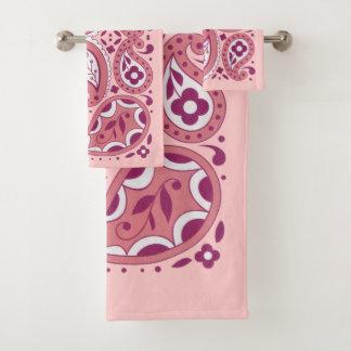 Hübscher Paisley-Entwurfs-Riss lässt Gänseblümchen Badhandtuch Set
