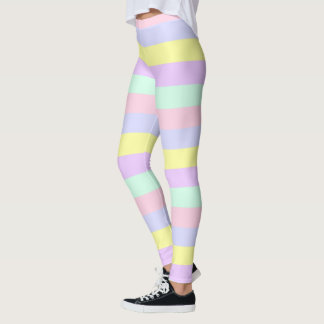 Hübscher Pastell Striped Leggings