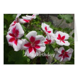 Hübscher Petunie-Juli Geburtstag Karte