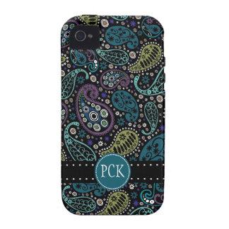Hübscher Pfau färbt Paisley-Muster iPhone 4/4S Cover